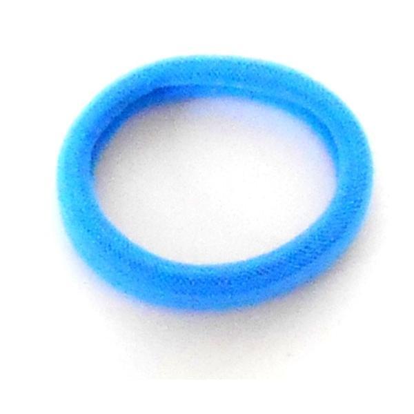 ジュニア ヘヤゴム 可愛い パイルデザイン 単色 デザイン  ブルー かわいい ゴム  h-g242 yy