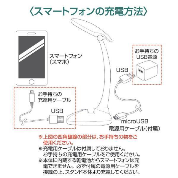 スタンドライト LED デスクスタンドライト デクスライト 電気スタンド 卓上ライト (USB電源) gt-810975(210548)(GT) 送料無料|msstore-1147|04