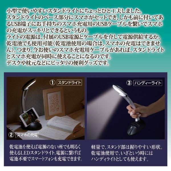 スタンドライト デスクライト 卓上ライト LED 勉強 学習机 書斎机 寝室 スマホが充電できる スタンドライトII AST-3403 (210626)(GT) msstore-1147 02