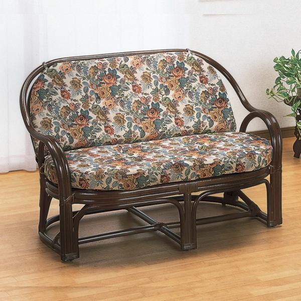 ソファー ソファ ラタン ソファ 籐の椅子 おしゃれ ラタン家具 籐家具 2人掛け ラブチェアー Y-450B (250775)(IE)|msstore-1147