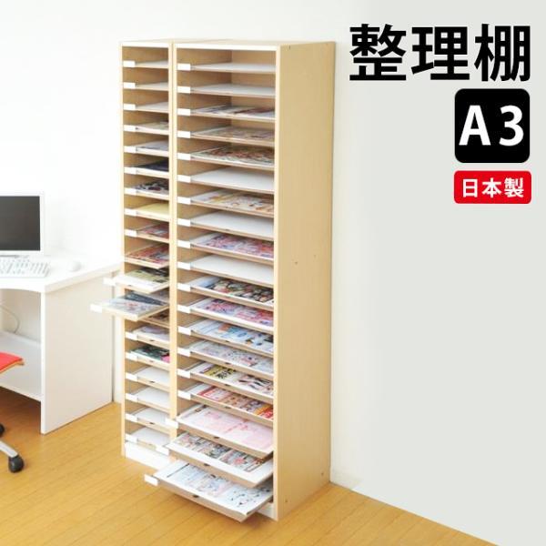 A3 用紙 整理棚 PLN-19 書類棚 書類整理 日本製 オフィス家具 収納棚 送料無料 (270002)(VT)|msstore-1147