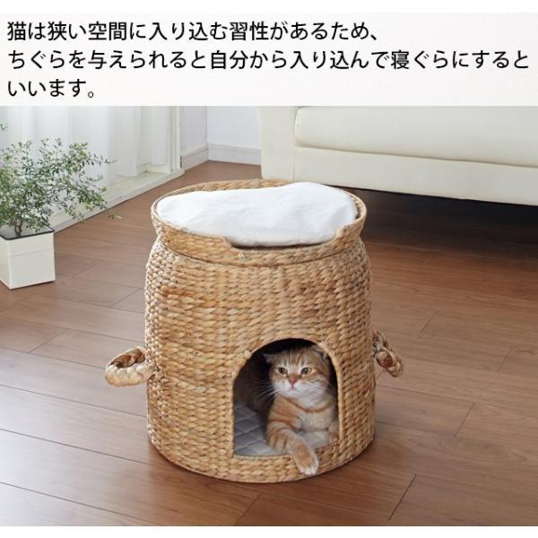 ペットハウス キャットハウス 猫ハウス ペット セパレート ベッド付 ちぐら 送料無料(28647)(KR)|msstore-1147|03