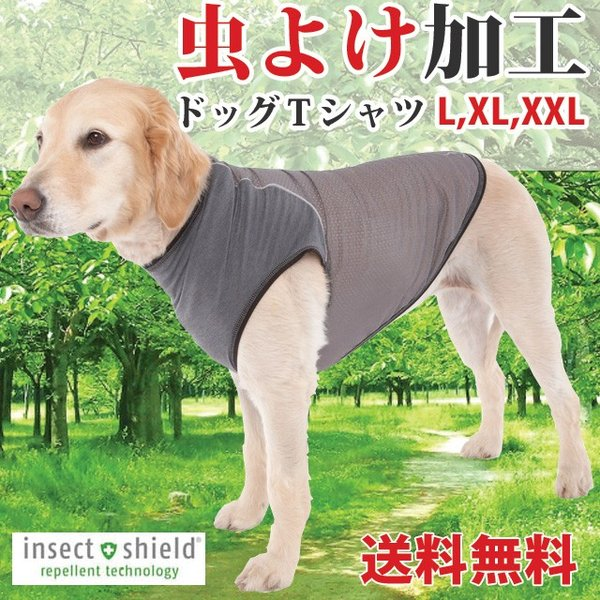 犬 虫よけ Tシャツ L / XL/ XXL 中型犬 大型犬 愛犬 インセクトシールド ヒアリ マダニ 虫除け (400004)(MT)|msstore-1147
