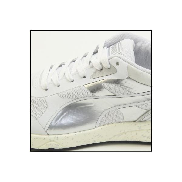 PUMA IGNITE METALLIC(プーマ イグナイト メタリック) White-puma silver-White (361263-02) ランニング Running レディス|mstage|03