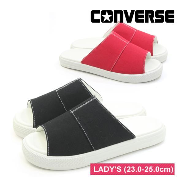 コンバース CV サンダル キャンバス ブラック レッド ネイビー ユニセックス レディースサイズ CONVERSE CV SANDAL CANVAS BLACK RED NAVY mstage