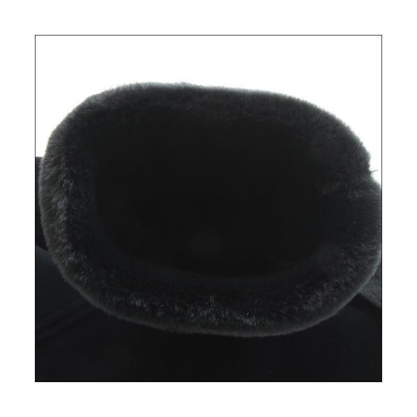 第一ゴム シェブリー スエード W85 レディース 防滑 防寒 長靴 ブラック 冬用 雪 除雪 完全防水 スノーブーツ レインブーツ スパイク ボア 日本製|mstage|10
