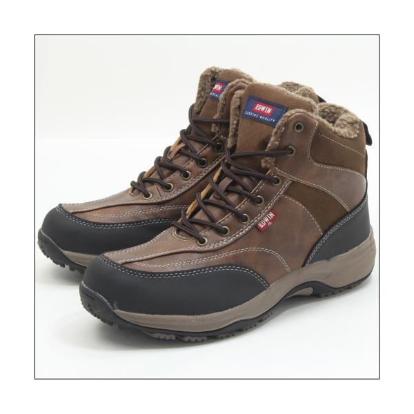 エドウィン 防水 防寒 ウインター ブーツ メンズ スノーブーツ ミッドカット トレッキング 登山 アウトドア ワークブーツ EDWIN EDS-9120|mstage|15