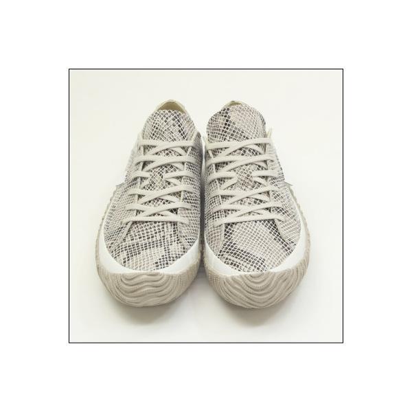 スピングルムーブ スネーク 蛇柄 ホワイト メンズ ハンドメイド 手作り スニーカー 革靴 SPINGLE MOVE SPM-104R WHITE made in japan|mstage|08