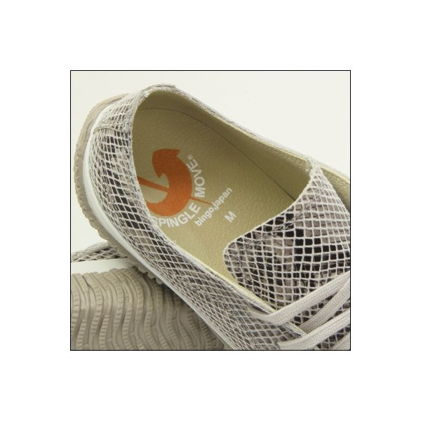 スピングルムーブ スネーク 蛇柄 ホワイト メンズ ハンドメイド 手作り スニーカー 革靴 SPINGLE MOVE SPM-104R WHITE made in japan|mstage|10