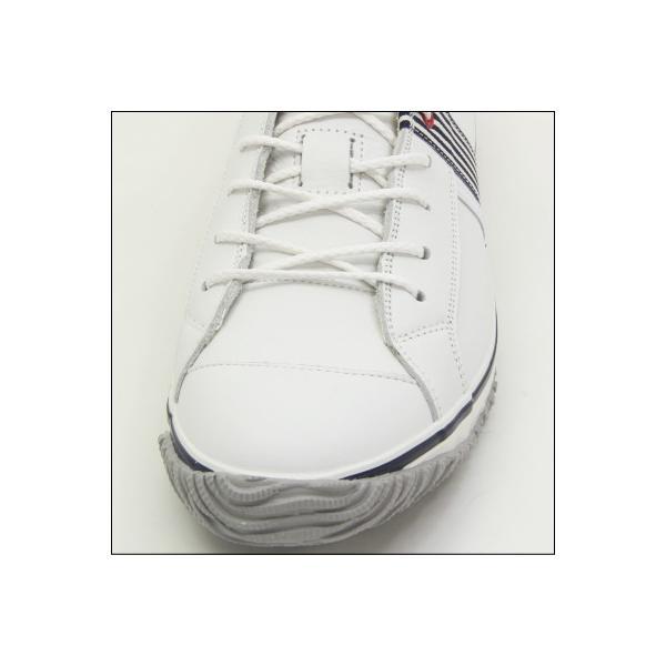 SPINGLE MOVE スピングルムーブ SPM-168 WHITE/NAVY(ホワイト/ネイビー) メンズ スニーカー 革靴 made in japan ハンドメイド 手作り|mstage|02