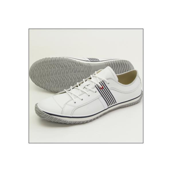SPINGLE MOVE スピングルムーブ SPM-168 WHITE/NAVY(ホワイト/ネイビー) メンズ スニーカー 革靴 made in japan ハンドメイド 手作り|mstage|05