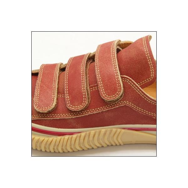 SPINGLE MOVE スピングルムーブ SPM-211 RED レッド 赤 スニーカー 革靴 ローカット メンズサイズ 紐なし 日本製|mstage|03