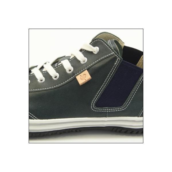 スピングルムーブ SPINGLE MOVE SPM-442 DARK BLUE ダークブルー スニーカー 革靴 メンズ 手作り made in japan ハンドメイド|mstage|03