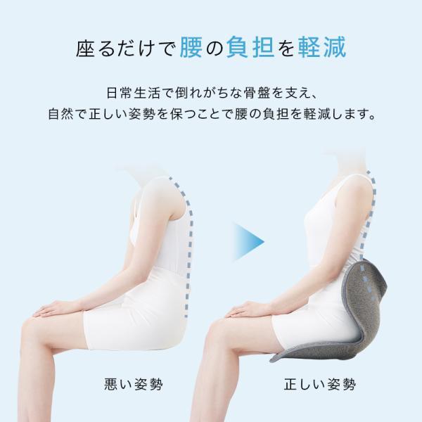 椅子 ボディメイクシート スタイル Body Make Seat Style クッション 腰痛 姿勢 産後 ケア グッズ クッション 姿勢矯正 MTG P10倍|mtgec|02