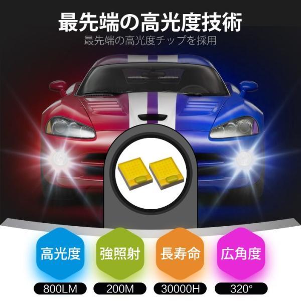 LEDバルブ フォグランプ H7 H8 H11 HB3 HB4 800LM 30W 12V 24V ライト(LED-10G)|mtkshop|03