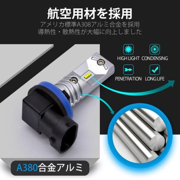 LEDバルブ フォグランプ H7 H8 H11 HB3 HB4 800LM 30W 12V 24V ライト(LED-10G)|mtkshop|04