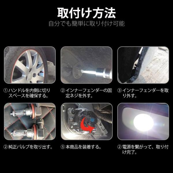 LEDバルブ フォグランプ H7 H8 H11 HB3 HB4 800LM 30W 12V 24V ライト(LED-10G)|mtkshop|07