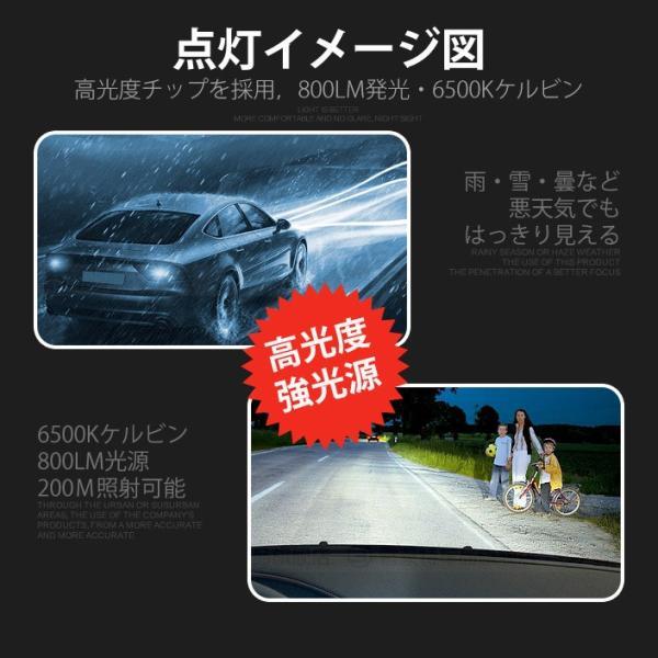 LEDバルブ フォグランプ H7 H8 H11 HB3 HB4 800LM 30W 12V 24V ライト(LED-10G)|mtkshop|08
