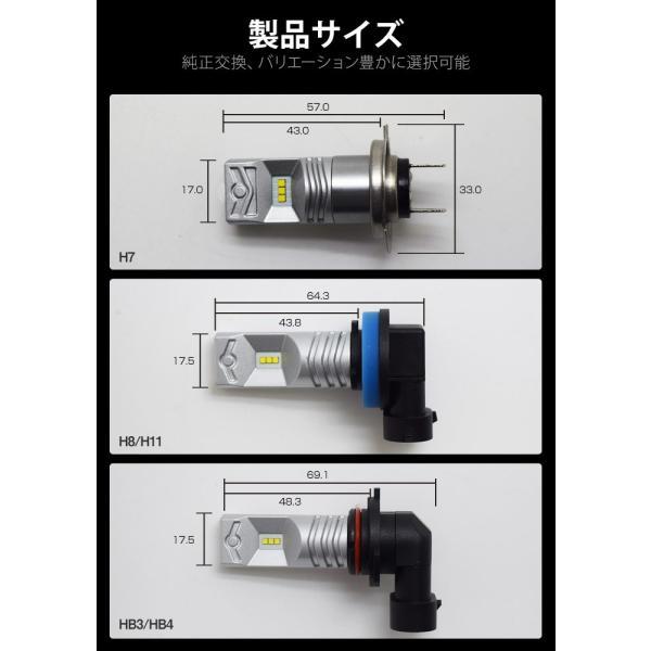 LEDバルブ フォグランプ H7 H8 H11 HB3 HB4 800LM 30W 12V 24V ライト(LED-10G)|mtkshop|09