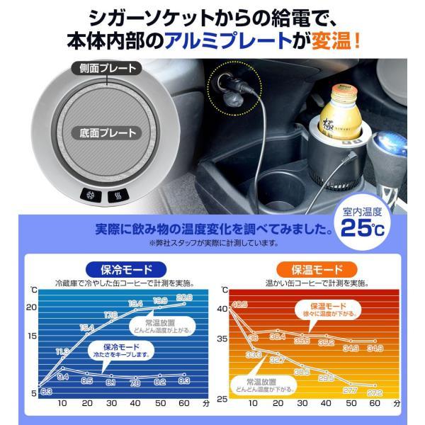 ドリンクホルダー 車 保冷 保温 シガーソケット カー用品 (YR-320)|mtkshop|05