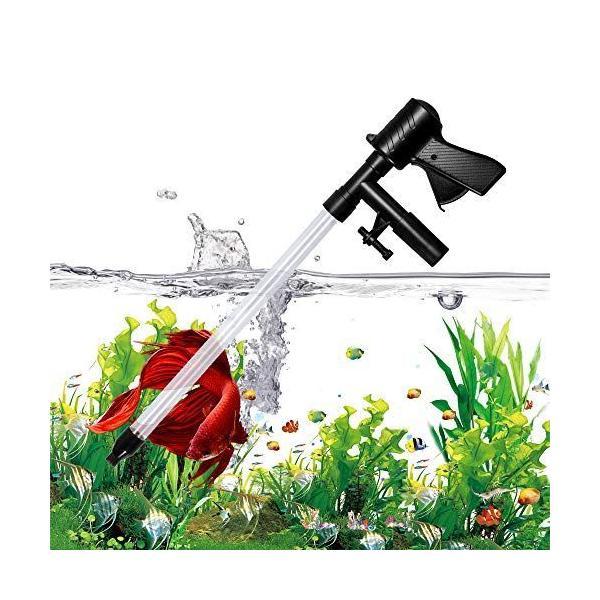 水交換ポンプ水槽清掃クリーナーポンプアクアリウム底砂クリーナー手動式水替え魚糞底砂掃除