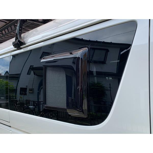 ハイエース200系4型網戸対応小窓バイザー(1P)|mudfactory|12