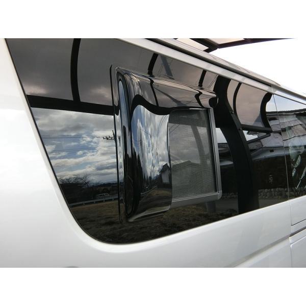 ハイエース200系4型網戸対応小窓バイザー(1P)|mudfactory|03