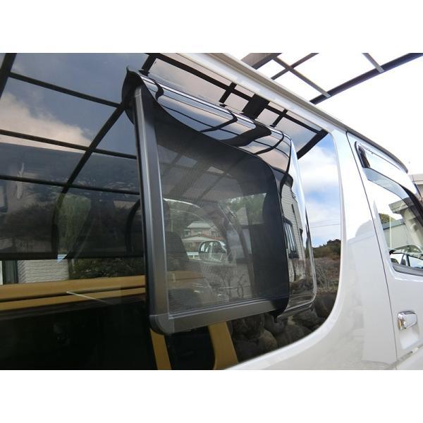 ハイエース200系4型網戸対応小窓バイザー(1P)|mudfactory|04