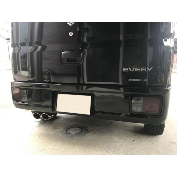 エブリイバン DA17V/DA64V テールレンズカバー(ライトスモーク) mudfactory 08