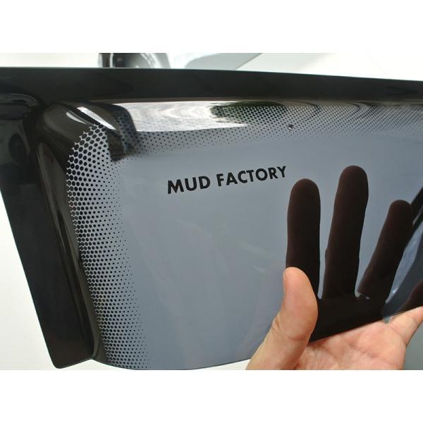 ハスラー ドアバイザー (ビッグワイド/ダークスモーク)|mudfactory|03