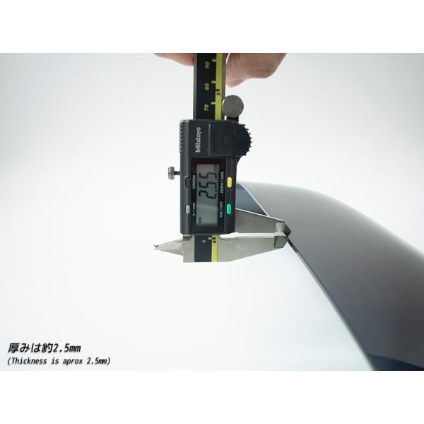 ハスラー ドアバイザー (ビッグワイド/ダークスモーク)|mudfactory|10