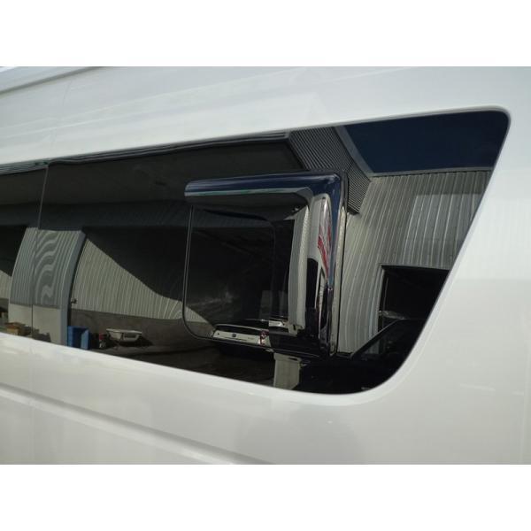 ハイエース200系4型~5型 サイドバイザー (小窓用バイザー/左右セット) mudfactory 13