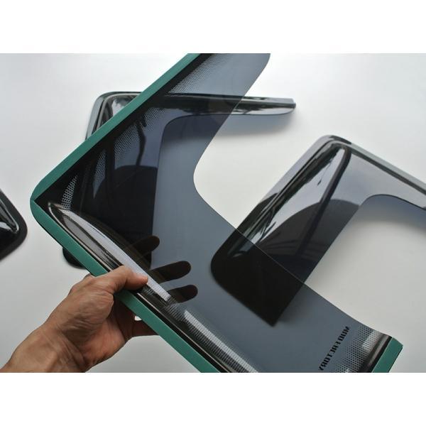 ハイエース200系4型~5型 サイドバイザー (小窓用バイザー/左右セット)|mudfactory|04