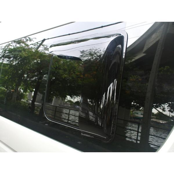 ハイエース200系4型~5型 サイドバイザー (小窓用バイザー/左右セット)|mudfactory|05