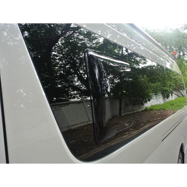 ハイエース200系4型~5型 サイドバイザー (小窓用バイザー/左右セット)|mudfactory|06