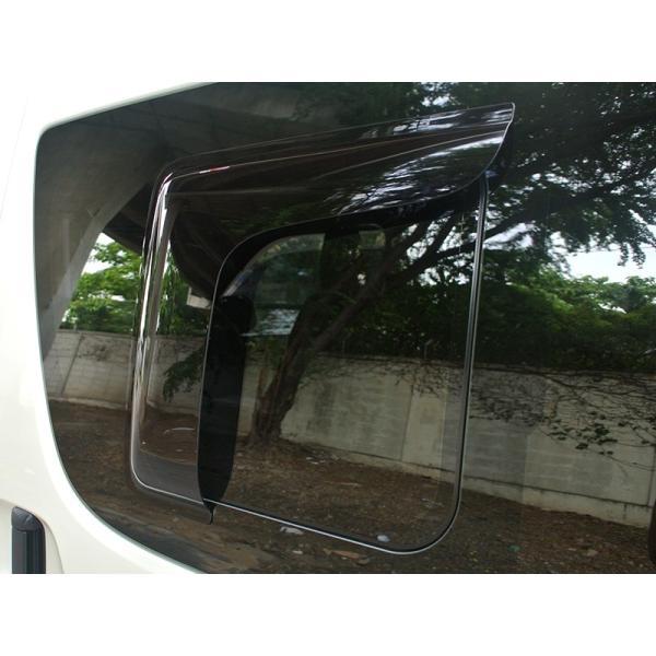 ハイエース200系4型~5型 サイドバイザー (小窓用バイザー/左右セット)|mudfactory|07