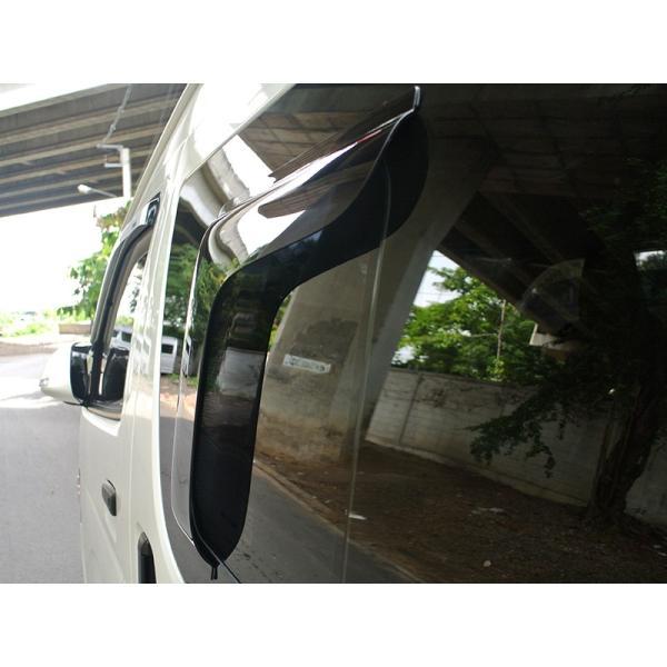 ハイエース200系4型~5型 サイドバイザー (小窓用バイザー/左右セット) mudfactory 08