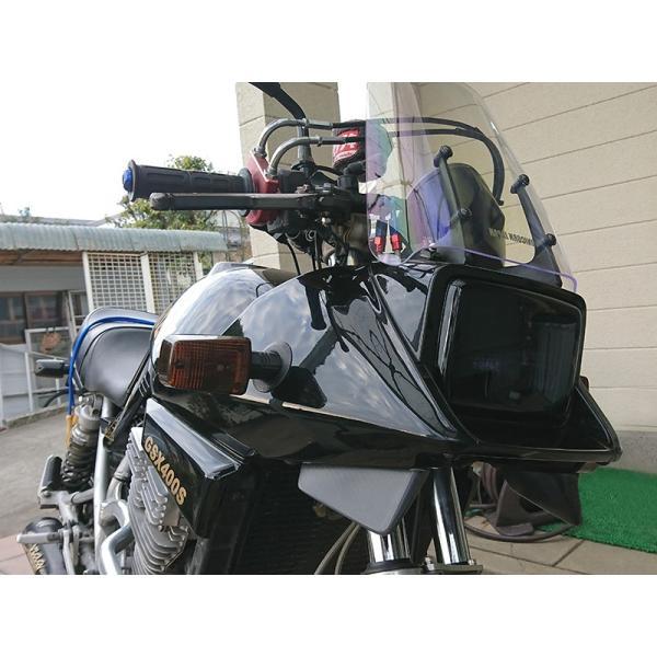カタナ GSX400S/GSX250S ヘッドライトカバー (ダークスモーク) mudfactory 05