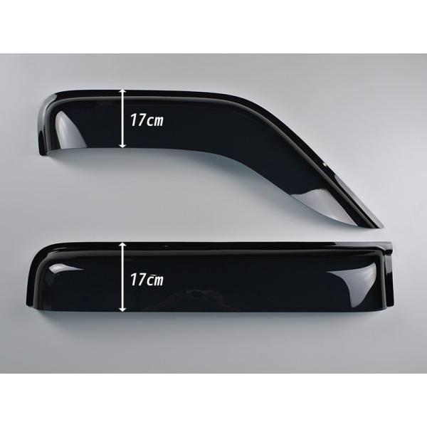 ハイゼットカーゴ アトレー S320/S321/S330/S331系 ドアバイザー(リア用のみ) (ディアスワゴン/サンバーバン/ピクシスバンOK)|mudfactory|02