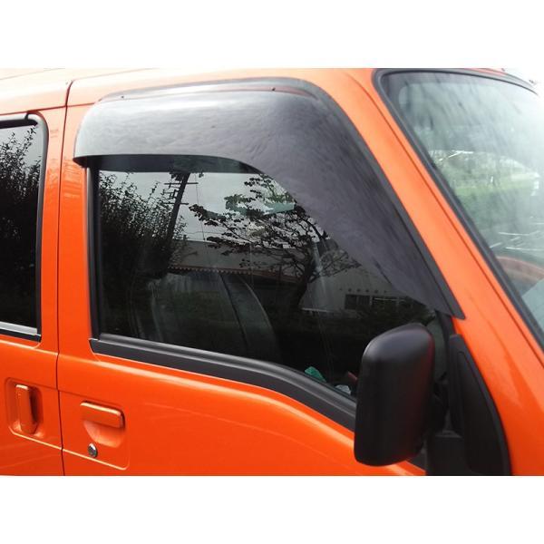 サンバートラック/ディアスバン/ワゴン:TT1/TT2/TV1/TV2/TW1/TW2 ドアバイザー (ビッグワイド/ダーク)フロント用のみ mudfactory 12