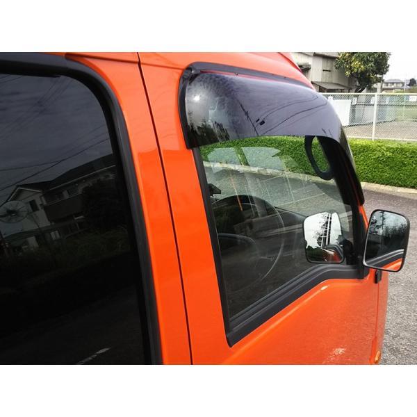サンバートラック/ディアスバン/ワゴン:TT1/TT2/TV1/TV2/TW1/TW2 ドアバイザー (ビッグワイド/ダーク)フロント用のみ mudfactory 17