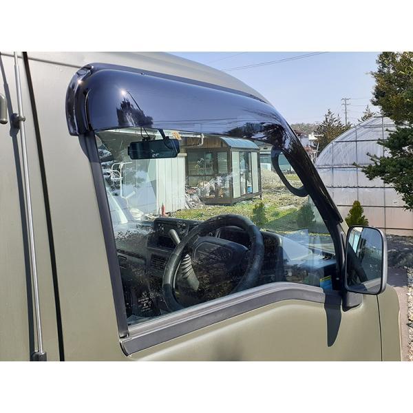 サンバートラック/ディアスバン/ワゴン:TT1/TT2/TV1/TV2/TW1/TW2 ドアバイザー (ビッグワイド/ダーク)フロント用のみ mudfactory 07