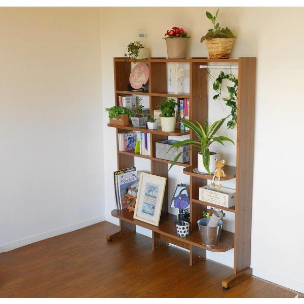 立体的に物を飾れる3次元構造、新感覚のオープンシェルフ、本棚、パーツ追加で無限に拡張 MUGENステージシェルフ 3連セットB:【モダン・北欧風・木製】|mugen-cf|02
