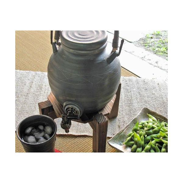 [ポイント10倍]信楽焼 ラジウム 焼酎サーバー 黒ライン 一升 陶器 おしゃれ 焼酎 お酒 ウォーターサーバー イオン 浄水器 プレゼント 信楽焼き 焼き物(dsoi)