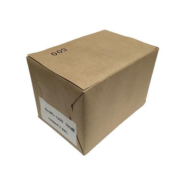 NO.MC135S  クラフト紙サンクスカード(二つ折り可) (100mmx148mm) 【500枚】 DMやサンクスカードに最適