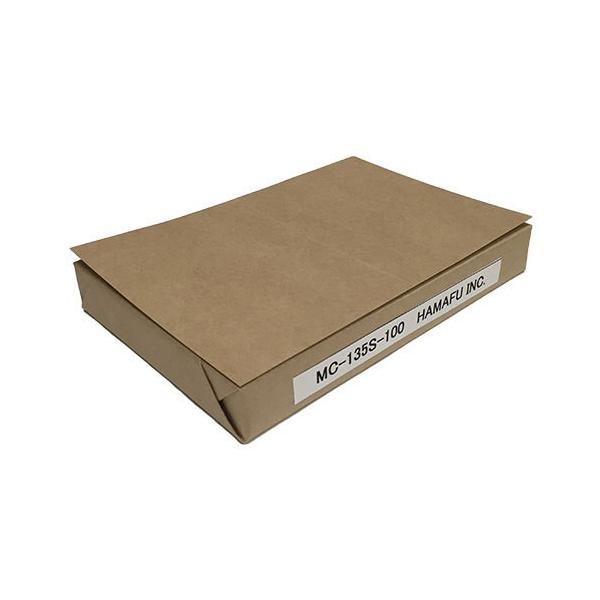 NO.MC135S-100  クラフト紙サンクスカード(二つ折り可) (100mmx148mm) 【100枚】DMやサンクスカードに最適