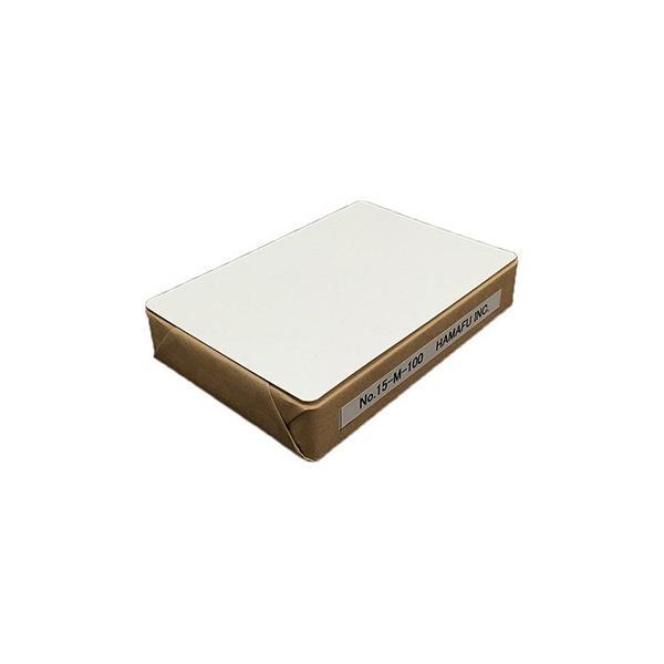 NO.15M-100  白色両面無地ハガキ 厚手 (100mmX148mm) 国産上質紙 180kg 角丸 【100枚】