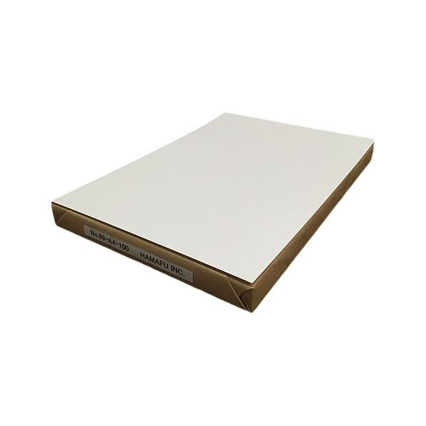 NO.99A4-100  光沢紙(裏マット紙インクジェット対応) A4サイズ(210x297)白色両面無地ハガキ 【100枚】