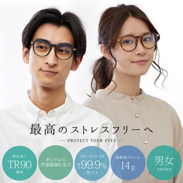 【25日まで限定クーポン】PCメガネ ブルーライトカット ユニセックス ポイント消化 mujina 02