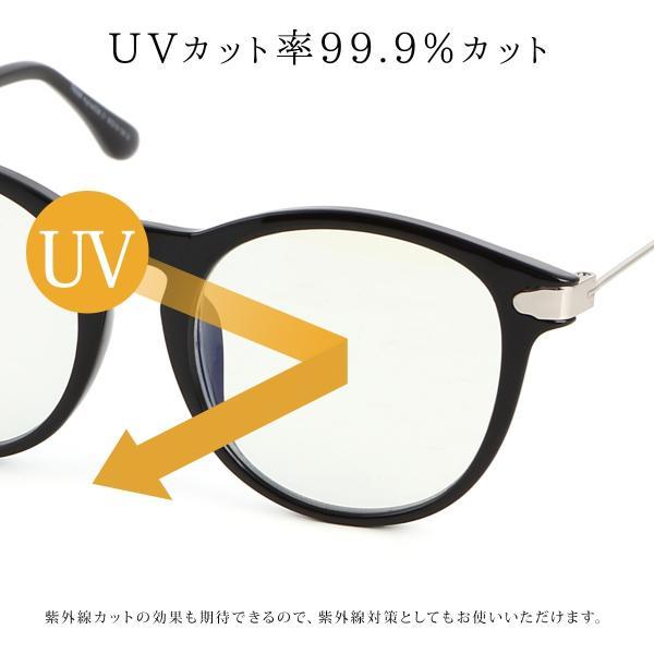 【25日まで限定クーポン】PCメガネ ブルーライトカット ユニセックス ポイント消化 mujina 13
